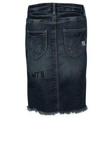 Tmavomodrá dievčenská rifľová sukňa s potrhaným efektom name it Salli