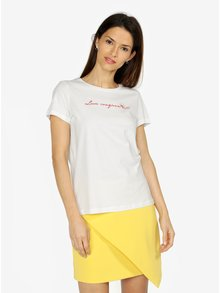 Krémové tričko s potiskem VERO MODA Female