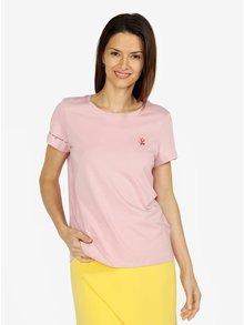 Růžové tričko s potiskem VERO MODA Female