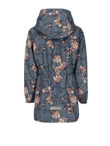 Šedá holčičí květovaná bunda s kapucí name it Mello