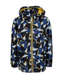 Tmavomodrá chlapčenská vzorovaná bunda s kapucňou name it Mellon