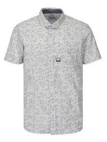 Camasa slim fit alb&gri cu print pentru barbati - s.Oliver