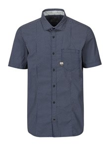 Camasa slim fit albastra cu print pentru barbati - s.Oliver