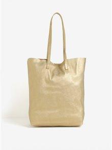 Metalický shopper v zlatej farbe VERO MODA Anna