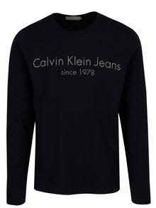 Tmavomodré pánske regular fit tričko s dlhým rukávom Calvin Klein Jeans Treavik