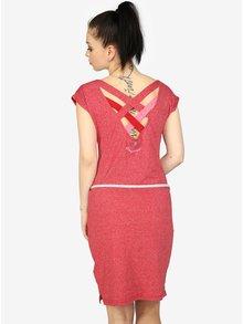Červené melírované šaty s pásikmi na chrbte Ragwear Sofia