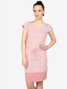 Ružové pruhované melírované šaty Ragwear Soho Stripes