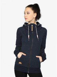 Tmavomodrá dámska bodkovaná mikina s kapucňou  Ragwear Chelsea Dots