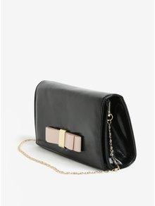Čierna listová kabelka s mašľou Dorothy Pekrins