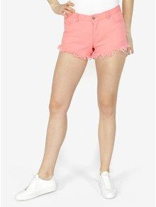 Ružové rifľové kraťasy VERO MODA Fiver