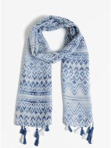 Modrá vzorovaná šatka so strapcami name it Nussi