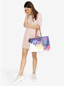 Geanta shopper cu geanta crossbody 2 in 1 crem cu print floral  Desigual Corel Seattle