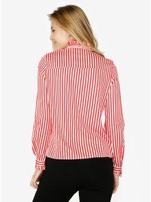 Červeno-biela pruhovaná košeľa s dlhým rukávom VERO MODA Lizette