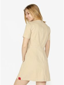Béžové šaty s vreckami Calvin Klein Jeans Dani