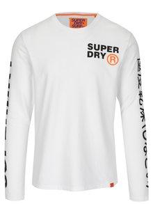 Bluza alba din bumbac cu print pentru barbati - Superdry