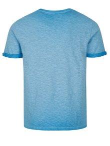 Modré pánske melírované tričko s krátkym rukávom Superdry