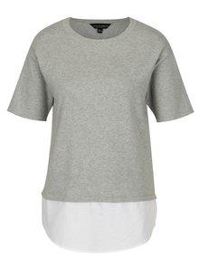 Svetlosivý top so všitým košeľovým lemom Dorothy Perkins