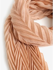 Béžový plisovaný šál Pieces Gyselle