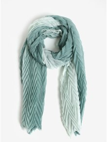 Zelený plisovaný šál Pieces Gyselle