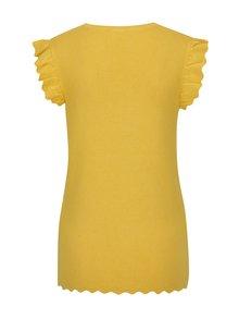 Žltý sveter s volánmi Dorothy Perkins