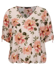 Bluza roz pal cu print floral Dorothy Perkins Curve