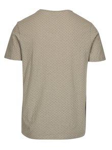Sivé tričko s jemným vzorom Selected Homme Kris