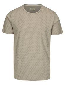 Tricou gri din bumbac organic cu print discret - Selected Homme Kris