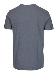 Tricou albastru din bumbac organic cu print discret - Selected Homme Kris