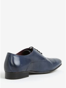 Tmavě modré kožené polobotky London Brogues Denley