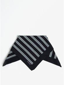 Tmavomodrá pruhovaná šatka Pieces Nomani
