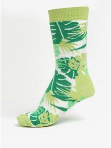 Sosete verzi cu model floral pentru femei - Happy Socks Jungle
