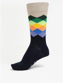 Sosete multicolore cu model pentru barbati - Happy Socks Faded Diamond