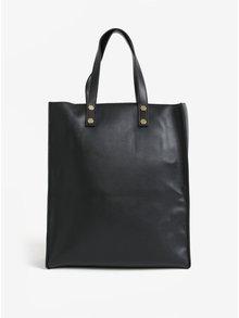 Geanta shopper neagra cu detalii metalice Pieces Unnel