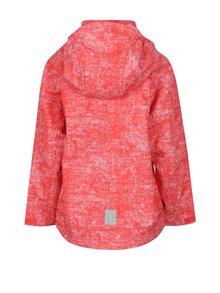 Růžová holčičí žíhaná voděodolná bunda s kapucí Reima April