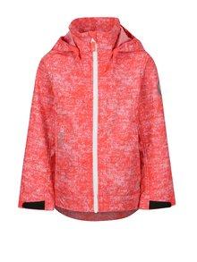 Ružová dievčenská melírovaná vodovzdorná bunda s kapucňou Reima April