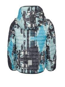 Modro–sivá chlapčenská prešívaná páperová bunda s odnímateľnými rukávmi Reima Fleet