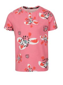 Ružové dievčenské kvetované tričko Reima Conch