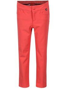 Ružové dievčenské softshellové vodovzdorné nohavice Reima Idole