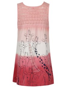 Ružové dievčenské šaty s potlačou BÓBOLI