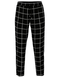 Čierne kockované nohavice NISSA