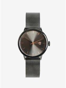 Tmavosivé metalické dámske hodinky CHPO Nando Mini Gun