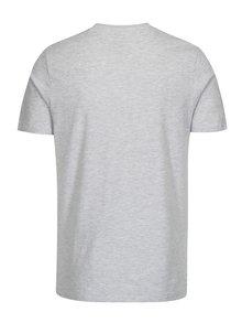 Sivé melírované tričko s potlačou Jack & Jones Face