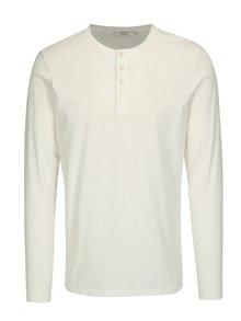 Krémové tričko s dlhým rukávom Jack & Jones Wolfsburg