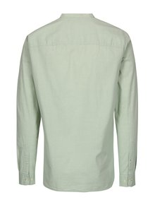Camasa slim fit verde deschis cu guler tunica - Jack & Jones Kevin