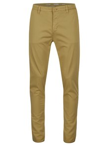 Pantaloni slim fit bej din bumbac - Casual Friday by Blend
