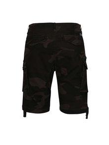 Pantaloni cargo scurti gri inchis cu print camuflaj - Jack & Jones Chop
