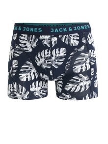 Súprava troch boxeriek v modrej, čiernej a vínovej farbe Jack & Jones Leaf