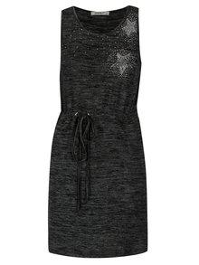 Tmavosivé melírované šaty Haily's Steffanie