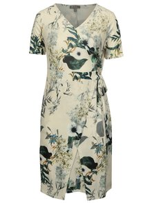 Krémové kvetované šaty Ulla Popken