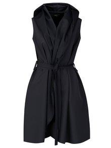 Tmavě šedé šaty se zavinovacím efektem Design by Lucie Jack